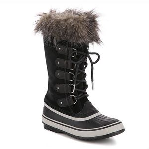 Sorel Black Lace Up Joan OF Arctic Snow Boot